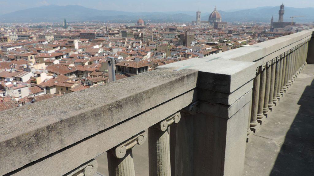 Palazzo Pitti: vista su Firenze